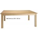 Stůl s bukovou kostrou,čtvercový 120 x 120 cm