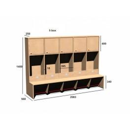 Šatní skříň 5x box